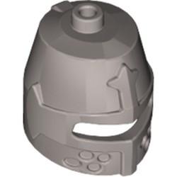 Flat Silver Minifigure, Headgear Helmet Castle Closed with Eye Slit - used