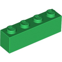 Green Brick 1 x 4 - used