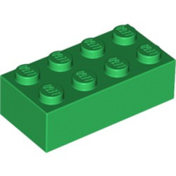 Green Brick 2 x 4 - used