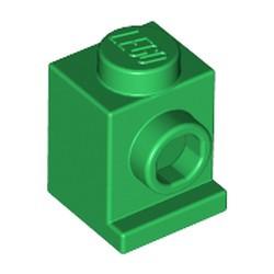 Green Brick, Modified 1 x 1 with Headlight - new