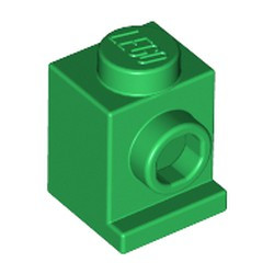 Green Brick, Modified 1 x 1 with Headlight - used