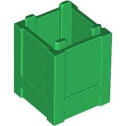 Green Container, Box 2 x 2 x 2 - Top Opening