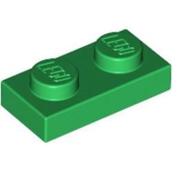 Green Plate 1 x 2