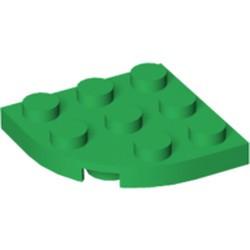 Green Plate, Round Corner 3 x 3 - used