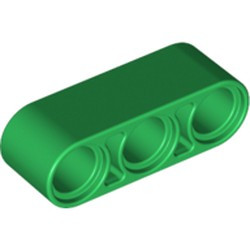 Green Technic, Liftarm 1 x 3 Thick - used
