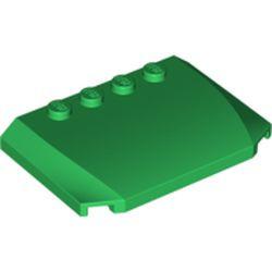 Green Wedge 4 x 6 x 2/3 Triple Curved