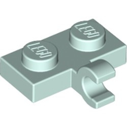 Light Aqua Plate, Modified 1 x 2 with Clip on Side (Horizontal Grip) - new