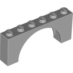 Light Bluish Gray Arch 1 x 6 x 2 - Medium Thick Top without Reinforced Underside