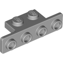 Light Bluish Gray Bracket 1 x 2 - 1 x 4 with Two Rounded Corners at the Bottom