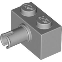 Light Bluish Gray Brick, Modified 1 x 2 with Pin - new