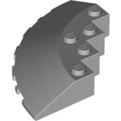 Light Bluish Gray Brick, Round Corner 6 x 6 with Slope 33 Edge, Facet Cutout