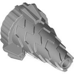Light Bluish Gray Cone Spiral Jagged - Step Drill