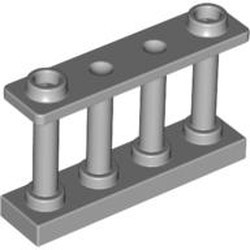 Light Bluish Gray Fence 1 x 4 x 2 Spindled with 2 Studs