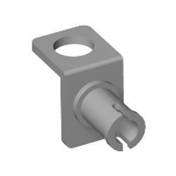 Light Bluish Gray Minifigure Neck Bracket with Technic Pin