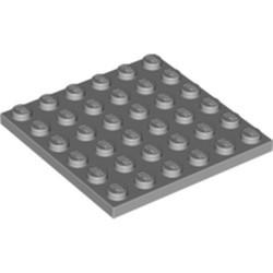 Light Bluish Gray Plate 6 x 6 - used