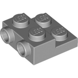 Light Bluish Gray Plate, Modified 2 x 2 x 2/3 with 2 Studs on Side - new