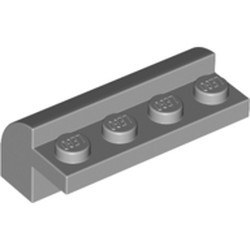Light Bluish Gray Slope, Curved 2 x 4 x 1 1/3 with Four Recessed Studs - new