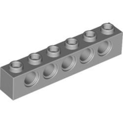 Light Bluish Gray Technic, Brick 1 x 6 with Holes - used