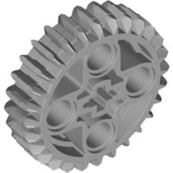 Light Bluish Gray Technic, Gear 28 Tooth Double Bevel