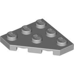 Light Bluish Gray Wedge, Plate 3 x 3 Cut Corner - used