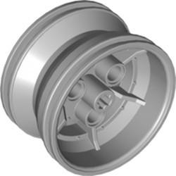 Light Bluish Gray Wheel 43.2mm D. x 26mm Technic Racing Small, 3 Pin Holes - new