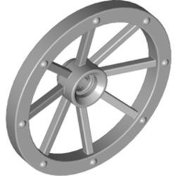 Light Bluish Gray Wheel Wagon Large 33mm D., Hole Notched for Wheels Holder Pin