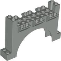 Light Gray Arch 4 x 12 x 6 Wall with Grooves