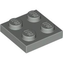 Light Gray Plate 2 x 2