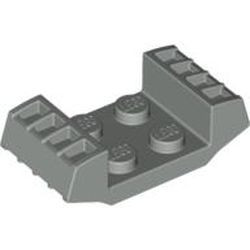 Light Gray Plate, Modified 2 x 2 with Vents