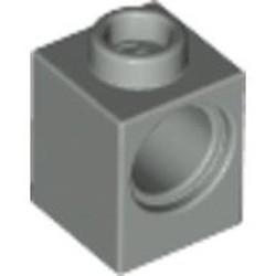 Light Gray Technic, Brick 1 x 1 with Hole