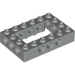 Light Gray Technic, Brick 4 x 6 Open Center - used