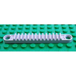 Light Gray Technic, Gear Rack 1 x 8 with Holes - used