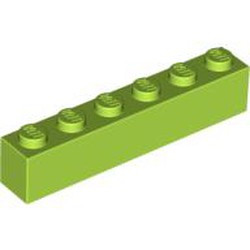 Lime Brick 1 x 6