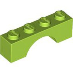 Lime Brick, Arch 1 x 4 - new