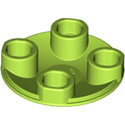 Lime Plate, Round 2 x 2 with Rounded Bottom (Boat Stud) - used