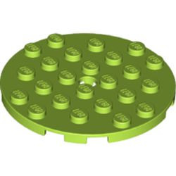 Lime Plate, Round 6 x 6 with Hole