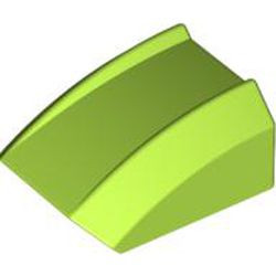 Lime Slope, Curved 2 x 2 Lip