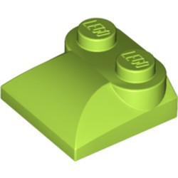 Lime Slope, Curved 2 x 2 x 2/3 with Two Studs and Curved Sides