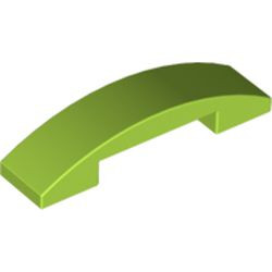 Lime Slope, Curved 4 x 1 Double