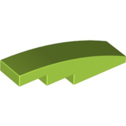Lime Slope, Curved 4 x 1 - new