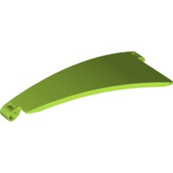 Lime Technic, Panel Curved #50 5 x 13 Tapered Left - new