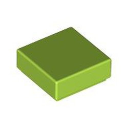 Lime Tile 1 x 1 with Groove