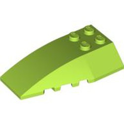 Lime Wedge 6 x 4 Triple Curved