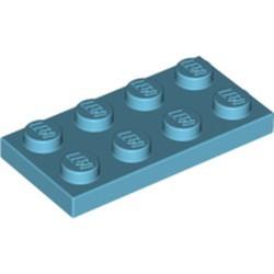 Medium Azure Plate 2 x 4 - used