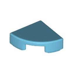 Medium Azure Tile, Round 1 x 1 Quarter - new