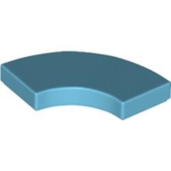 Medium Azure Tile, Round Corner 2 x 2 Macaroni - new