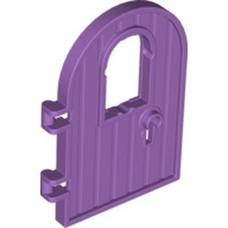 Medium Lavender Door 1 x 4 x 6 Round Top with Window and Keyhole, Reinforced Edge - used