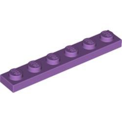 Medium Lavender Plate 1 x 6 - used