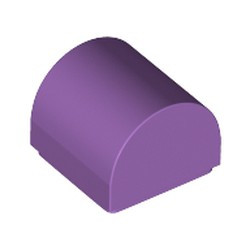 Medium Lavender Slope, Curved 1 x 1 Double