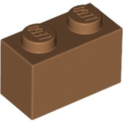 Medium Nougat Brick 1 x 2 - new
